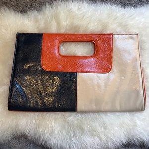 Giannini Multicolored Faux Leather Clutch